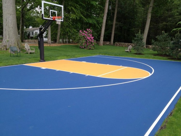 How much to build a basketball court in backyard outdoor for How much to build a basketball court